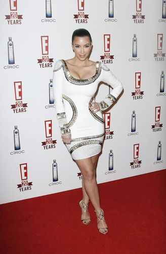 Kim Kardashian visited E! Television's 20th Birthday Celebration 11