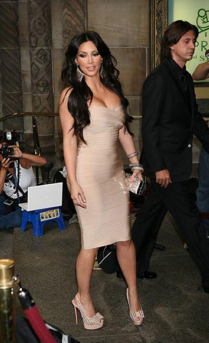 Kim Kardashian Strapless Bandage Dress 2