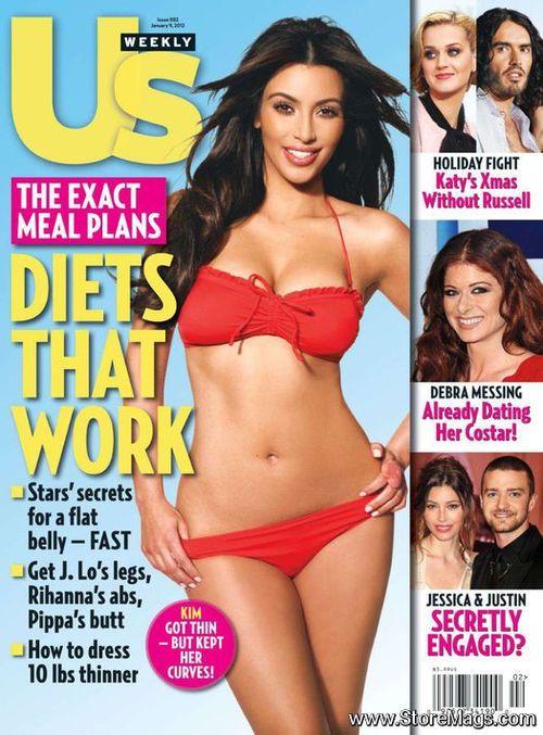 Kim Kardashian on US Weekly Magazine United States