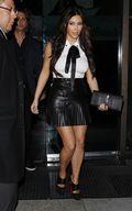 Kim Kardashian leaving mr. chow restaurant