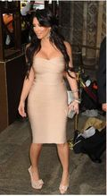 Kim Kardashian Strapless Bandage Dress 1
