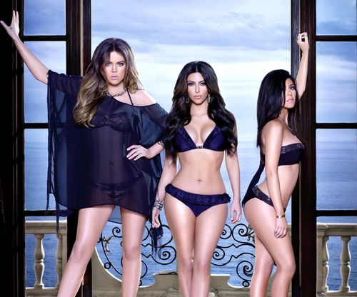 Kardashian Sisters in Swimwear for Sears