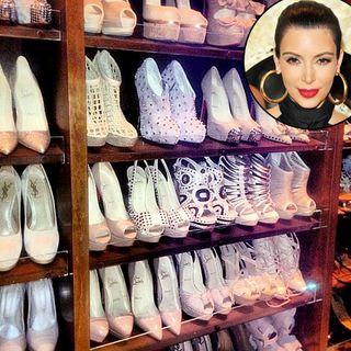 Kim Kardashian Shoe Collection Pics