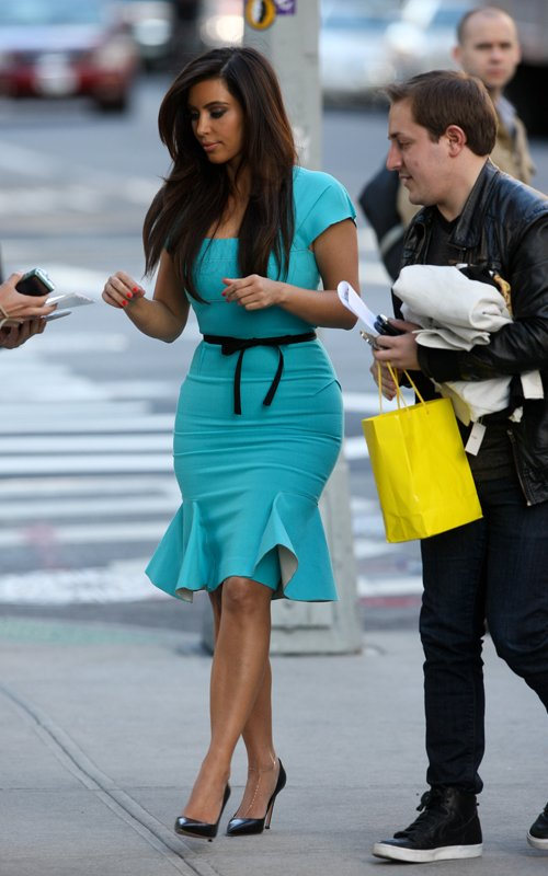 Kim Kardashian at New York Today show a