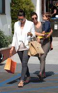 Kim & Kourtney Kardashian Enjoy Shopping at Malibu