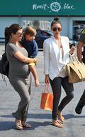 Kim & Kourtney Kardashian Enjoy Shopping at Malibu b